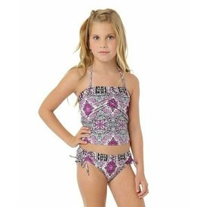 O'Neill Mandala Halter Tankini Swim Suit Two Piece